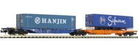HOBBYTRAIN H23750-9 Containerwagen Sdggmrs 744 Hanjin/Safrmarine DB AG   Spur N online kaufen