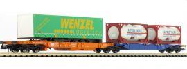 HOBBYTRAIN H23753 Containertragwagen Sdggmrs 744 LKW Wenzel ÖBB | Spur N online kaufen