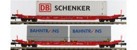 HOBBYTRAIN H23760 Containerwagen-Set 2-tlg. Bahntrans/DB Schenker DB Cargo | Spur N online kaufen
