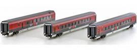 HOBBYTRAIN H25217 Railjet Personenwagen-Set 3-tlg. mit Barwagen ÖBB | Spur N online kaufen
