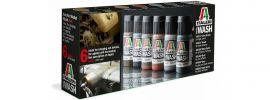 ITALERI 448 Acryl Set Wash | 6 Farben | Inhalt 6x 20ml online kaufen