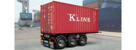 ITALERI 3887 20ft. Container Trailer | LKW Anhänger Bausatz 1:24 online kaufen