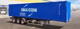 ITALERI 3951 Container Auflieger 40Ft | LKW Anhänger Bausatz 1:24 online kaufen