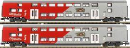 Jägerndorfer 60201 Doppelstockwagen-Set 2-tlg. Wiesel ÖBB City Shuttle | Spur N online kaufen