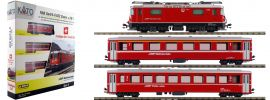 KATO 7074049 Zugpackung Ge 4/4-II 632 Zizers + 2 EW I RhB | analog | Spur N online kaufen