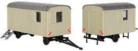 kibri 10278 Bauwagen, 2 Stück Bausatz Spur H0 online kaufen