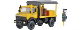 kibri 10770 UNIMOG Abschmierfahrzeug Gleisbau mit LED-Beleuchtung | Bausatz Spur H0 online kaufen