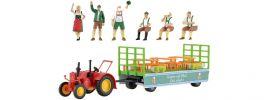 kibri 12226 LANZ Traktor mit Festwagen | Bausatz Spur H0 online kaufen
