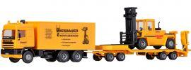 kibri 13580 DAF Zugmaschine mit Tiefladeanhänger und Stapler im Maßstab 1/87 Spur H0 online kaufen