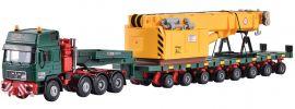 kibri 13600 MB SK mit Scheuerle Plattformwagen und Schienenkran | LKW Bausatz Spur H0 online kaufen