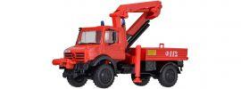 kibri 18271 Feuerwehr Unimog mit Palfinger Kran | Bausatz Spur H0 online kaufen