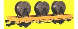 kibri 26269 Niederbordwagen mit Kabelrollen GleisBau Fertigmodell 1:87 online kaufen