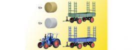 kibri 38999 Set Landwirtschaft LANZ Bulldog mit LED Beleuchtung und Anhänger Bausatz 1:87 online kaufen