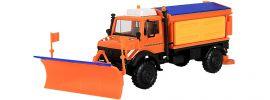 kibri 15012 Unimog mit Streugerät, Pflug & Soletank Bausatz Spur H0 online kaufen