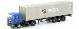 LEMKE LC4050 MAN F90 Sattelzug blau mit MOL Container | Lkw-Modell 1:160 online kaufen