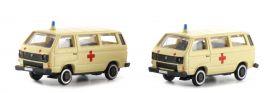 Lemke LC4310 VW T3 2er Set Krankenwagen | Automodell Spur N 1:160 online kaufen