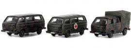 Lemke LC4312 VW T3 3er Set Bundeswehr | Automodell Spur N 1:160 online kaufen