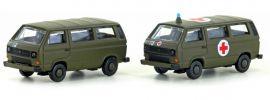 Lemke LC4337 VW T3 Set Militär (CH) | Auto-Modell Spur N 1:160 online kaufen