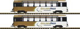 LGB 39667 Panoramawagen-Set 2-tlg. Golden Pass MOB | Spur G online kaufen