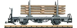 LGB 45145 Rungenwagen Kkp Echtholzladung RhB   Spur G online kaufen