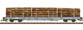 LGB 45924 Rungenwagen mit Stammholz RhB | Spur G online kaufen