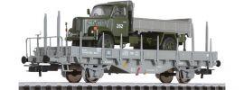 LILIPUT 235047 Rungenwagen Kms-w + Militär LKW SBB | DC | Spur H0 online kaufen
