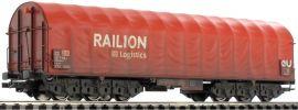 LILIPUT L235774 Transportwagen mit Plane, gealtert | Railion DB Logistics | DC | Spur H0 online kaufen