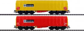 LILIPUT 230153 2-tlg. Set Coiltransportwagen Sahimms ThyssenKrupp | DC | Spur H0 online kaufen