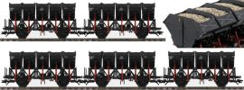 märklin 46356 Muldenkippwagen Set 5-tlg. Ommi 51 schwarz DB | Messemodell 2017 | Spur H0 online kaufen