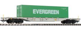 märklin 47065 Container-Tragwagen Sgnss 114 Evergreen Green Cargo   Spur H0 online kaufen
