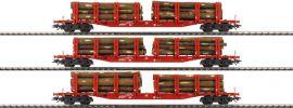märklin 47144 Rungenwagen-Set 3-tlg. Snps 719 Holzladung DB AG | Spur H0 online kaufen