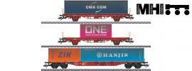 märklin 47580 Containerwagen-Set 3-tlg. gealtert DB | MHI | Spur H0 online kaufen