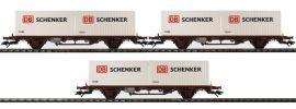 märklin 47725 Container-Tragwagen-Set 3-tlg. Lgs DB Schenker NSB | Spur H0 online kaufen
