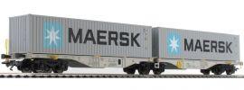 märklin 47803 Doppel-Tragwagen Sggrss 80 Maersk AAE/BoxXpress | Spur H0 online kaufen
