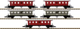 märklin 87009 Plattformwagen-Set K.W.St.E. | Spur Z online kaufen