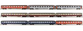 märklin 87409 Eurofima-Wagen-Set 9-tlg. diverse Bahnverwaltungen | Spur Z online kaufen