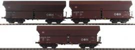 MEHANO 58871 Güterwagen-Set 3-tlg. FALNS 121 braun DB | gealtert | DC | Spur H0 online kaufen