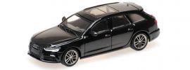 MINICHAMPS 870018110 Audi A6 Avant C7 2018 mythosschwarz-metallic Automodell 1:87 online kaufen