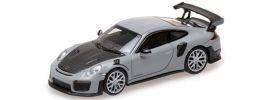 MINICHAMPS 870068127 Porsche  911 GT2 RS  2018 grau mit Carbonhaube Automodell 1:87 online kaufen