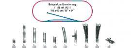 MINITRIX 14311 Gleis-Ergänzungspackung H1 | Spur N online kaufen