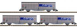 MINITRIX 15282 Schiebewandwagen-Set SBB Cargo | Spur N online kaufen