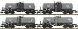 MINITRIX 15419 Kesselwagen-Set 4-tlg. Schwefelsäure DB AG | Spur N online kaufen
