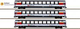 MINITRIX 15674 Personenwagen-Set 3-tlg. 1.Kl. Apm GoPEx SBB | Spur N online kaufen