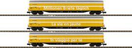 MINITRIX 15799 Großraumschiebewandwagen-Set 3-tlg. Habbiillnss Post SBB | Spur N online kaufen