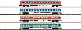 MINITRIX 15806 Personenwagen-Set 4-tlg. Neue Farben DB | Spur N online kaufen
