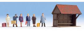 NOCH 12015 An der Bushaltestelle DekoSzene Fertigmodell 1:87 online kaufen