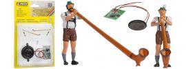 NOCH 12821 Alphornbläser mit Soundmodul | 2 Stück | Figuren Spur H0 online kaufen
