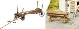 NOCH 14243 Holzfuhrwerk ohne Beladung  ECHTHOLZ-Bausatz Spur H0 online kaufen