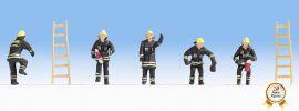 NOCH 15021 Feuerwehr schwarzer Schutzanzug 5 Figuren Spur H0 online kaufen