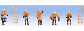 NOCH 15022 Feuerwehr in orangefarbenen  Schutzanzug 5 Figuren Spur H0 online kaufen